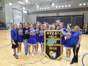 Teays Valley Christian Varsity Cheerleading Champs